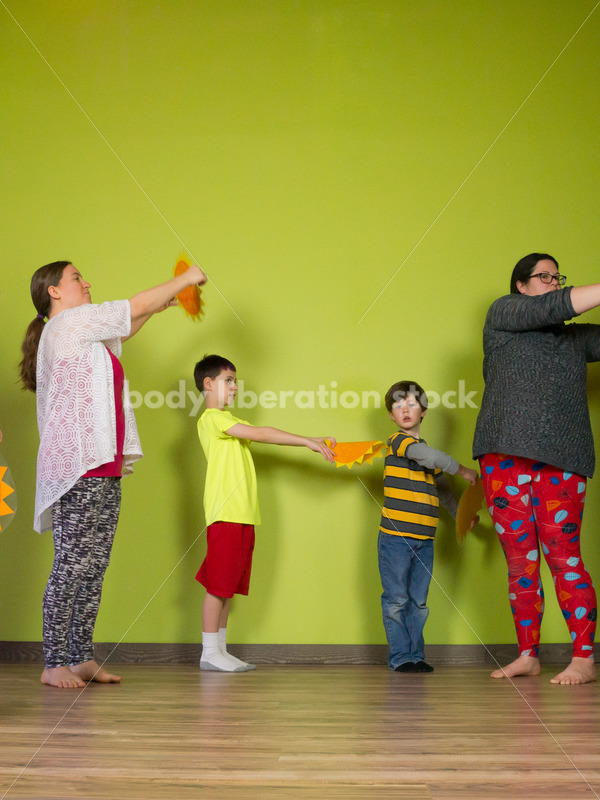 Health at Every Size Stock Photo: Family Yoga Class - Body Liberation Photos