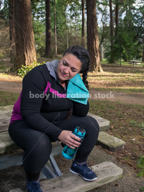Multi-ethnic woman, cooling down after running in a park - Body Liberation Photos