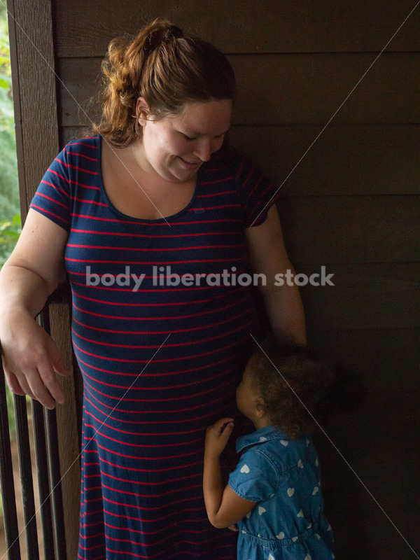 Plus Size Pregnancy and Family Stock Image - Body Liberation Photos