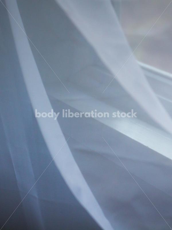 Romantic Stock Image: Filmy Window Curtain - Body Liberation Photos