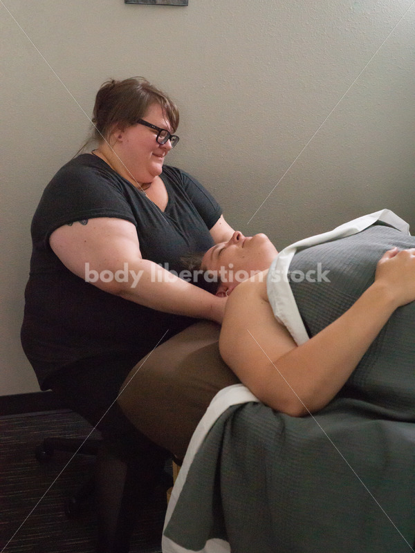 Stock Photo: Fat Massage Therapist and Patient - Body Liberation Photos