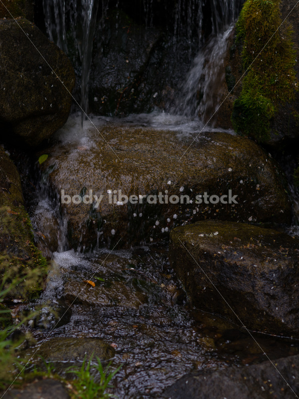 Stock Photo: Spring Waterfall with Room for Text - Body Liberation Photos