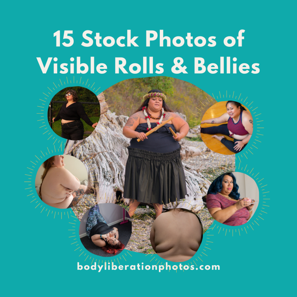 15 Body-Positive Stock Photos of Visible Rolls and Bellies