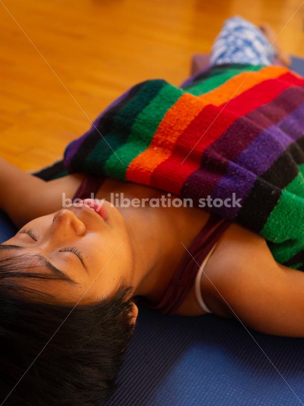 Diverse Yoga Stock Photo: Inclusive Rest Pose/Meditation - Body Liberation Photos