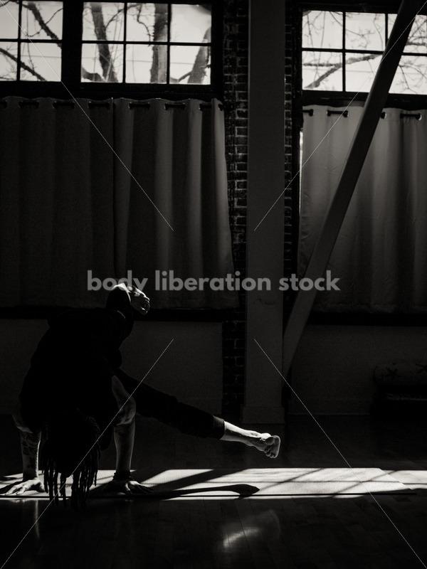 Diverse Yoga Stock Photo: Solo Pose in Studio - Body Liberation Photos