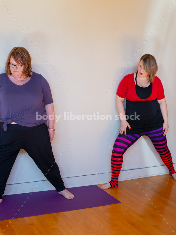 Inclusive Yoga Stock Photo: Yoga Instructor Interacting with Class - Body Liberation Photos