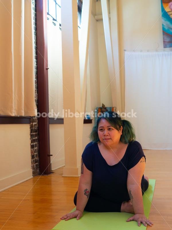 Plus-Size Stock Photo: Yoga Pose - Body Liberation Photos