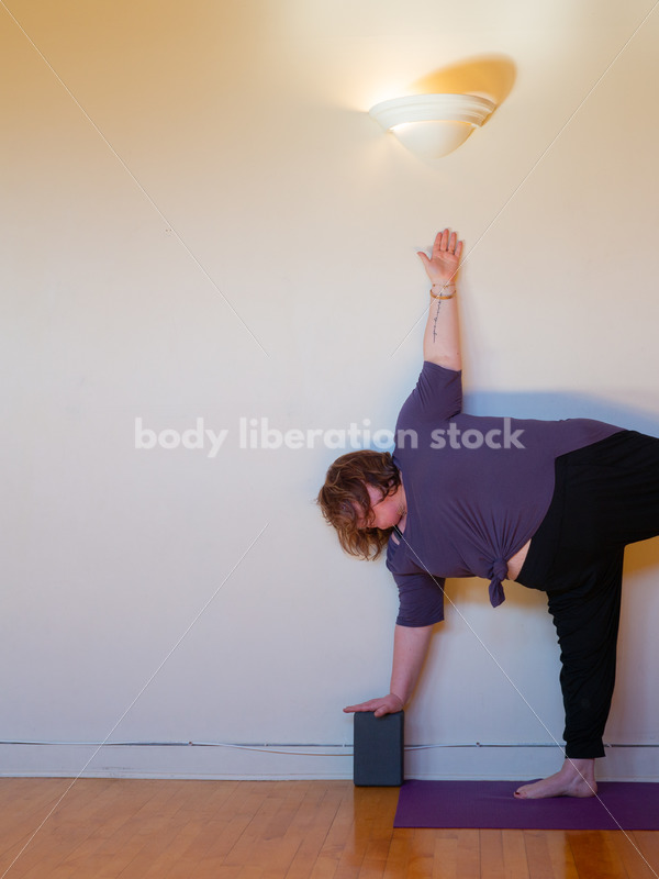 Yoga Stock Photo: Plus-Size Yoga Pose - Body Liberation Photos